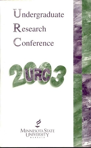 2003 Undergraduate Research Conference
