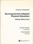 Instructor's Manual for Developmental/Adapted Physical Education: Making Ability Count