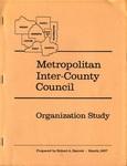 Metropolitan Inter-County Council: Organization Study