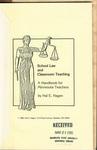 School Law and Classroom Teaching: A Handbook for Minnesota Teachers