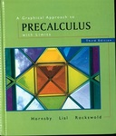 A Graphical Approach to Precalculus with Limits, 3rd Ed.