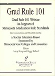 Grad Rule 101Website in Support Of Minnesota Graduation Rule Standards: A Preservice Teacher Education Project