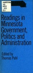 Readings in Minnesota Government, Politics, and Administration