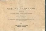 Outline of Grammar